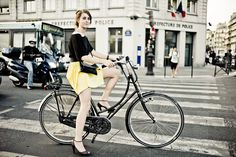 easy to wear heels on a bike :)
