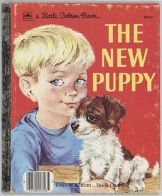 The New Puppy / Little Golden Book / By by BooksPaperAndMore