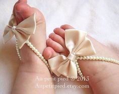 Items similar to baby barefoot sandals-child barefoot sandals-toddler barefoot sandals,baby foot jewelry,baptism shoes,flower girl on Etsy Baby Girl Shoes, Baby Girl Dresses, Baby Bows, Baby Headbands, Baby Schmuck, Baby Girl Baptism, Baby Jewelry, Girls Jewelry, Fine Jewelry