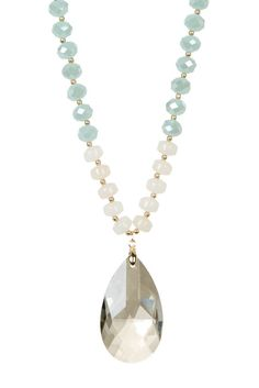 Image of Madison Parker Crystal Drop Pendant Necklace