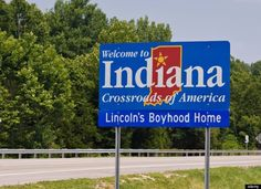 Welcome to Indiana. I know exactly where this sign is. I have visited my in laws for 17 years and know exactly how far we are from arriving at my mother in laws when I see this sign!
