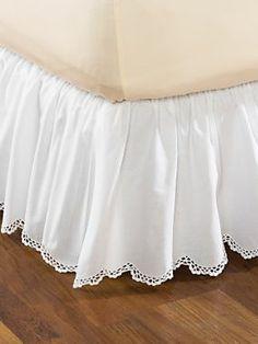 Crochet Edge Bed Skirt   LinenSource
