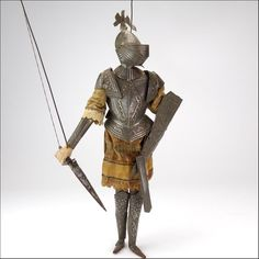 Original Vintage Sicilian Marionette Puppet of a Medieval Knight from vininghill on Ruby Lane