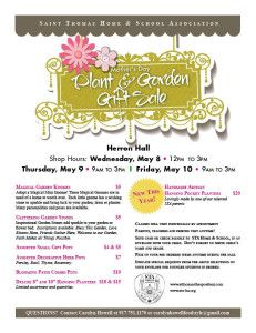 STA Plant  Garden Gift Sale — starting Wednesday, May 8! | STA Home  School Association Plant Sale, Fundraising, Mothers, Club, School, Fundraisers