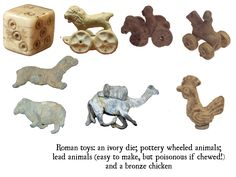 Roman toys from museum collections Ancient Rome, Ancient Art, Medieval Games, Roman Art, Ceramic Animals, Museum Collection, Old Toys, Roman Empire, Archaeology