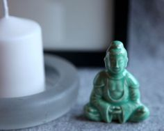Ceramic Buddha in Stoneware with Mint Green Glaze by GutenTagKeramik on Etsy