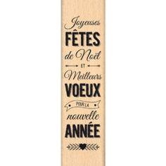 Tampon bois - Florilèges Design - Fêtes et voeux
