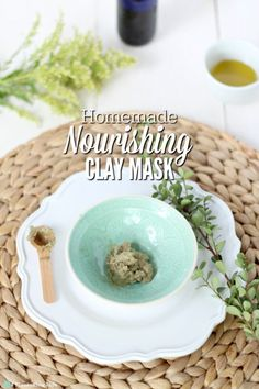 """Bentonite clay is detoxifying and is amazing for so many things, including toothpaste, homemade foundation, and I even wash my hair with it occasionally. Aloe vera is amazing for your skin (you can try this """"miracle"""" face cream), but I also use it for hair gel. Jojoba oil is used daily for oil cleansing, and hello, what isn't honey good for? Of course, essential oils are amazing for natural remedies, too. #ablossominglife #claymask #nourishing"""