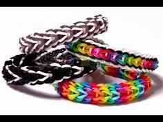 Vesper Rainbow Loom Bracelet Tutorial - Advanced Design - YouTube