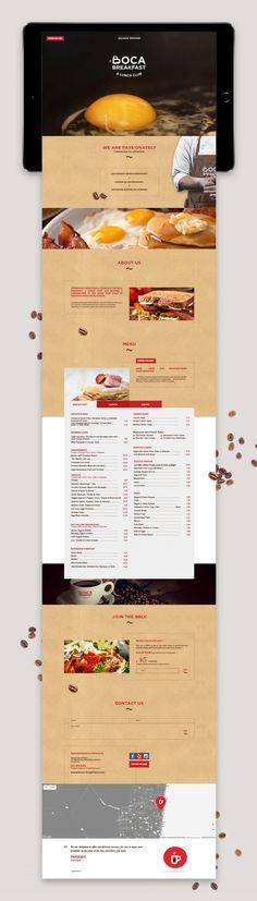 Au menu, la création d'un site Internet simple et pratique pour ce restaurant, composé d'une seule page qui défile verticalement.