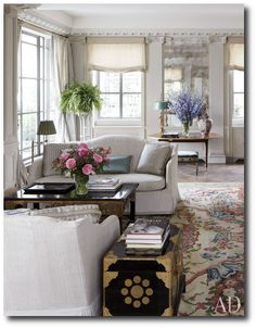 Living Room :: Michael Smiths Home Architectural Digest6