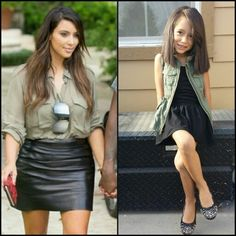 Kim kardashian inspired #kimk #kkw #fashiongirls #toddlerfashion #kidsfashion #oldnavy #tjmaxx #schoolfashion