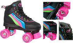 neon girl roller skates | Retro Roller Skater