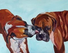 This looks just like Bella and Brody!   Boxer Dog Fine Art Print by BarkingDogCreations on Etsy