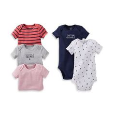 Carter's® 5-Pack Sail Print Bodysuit - buybuyBaby.com
