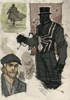 Steampunk Spiderman character redesigns (Venom) by Denis Medri Comic Book Characters, Comic Character, Comic Books Art, Comic Art, Marvel Art, Marvel Heroes, Thor Marvel, Avengers, Spiderman Art