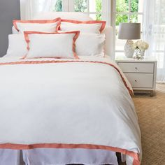 Linden Coral Duvet Cover from Crane & Co. Gorgeous bedding at a fabulous price! Check them out.