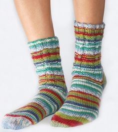 Ladder Rib Socks - Free Loom Knitting Pattern