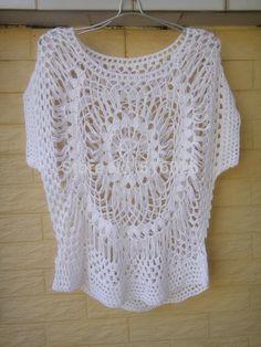 Blanco pura Womens blusas ganchillo hechos a mano la tapa del verano de Boho ropa(China (Mainland))