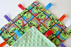 TMNT Ninja Turtles Handmade Baby Sensory Ribbon by OhSoVeryKnotty