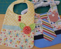 His and Her baby boy and baby girl bib PDF digital pattern instant download