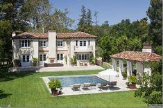Back yard swimming pool. Beautiful Mediterranean home and swimming pool.