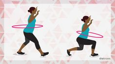 Swing your hips to your strongest core using a hula hoop