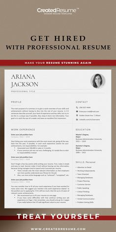 Minimal and professional resume template that will help to get the job of your dreams faster! Easy to customize on Word and Apple Pages. Designed by an experienced CreatedResume team these resume templates will catch an eye and help you outstand from the others. #resume #resumetemplate #modernresume #resumeformat #resumedesign #resumetips #createdresume #cv #cvtemplate Student Resume Template, Modern Resume Template, Resume Templates, Resume Format Examples, Good Resume Examples, Basic Resume, Professional Resume, Microsoft Word 2007, Wish You The Best