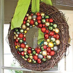 Festive Christmas Wreaths | Natural-Glitzy Combo