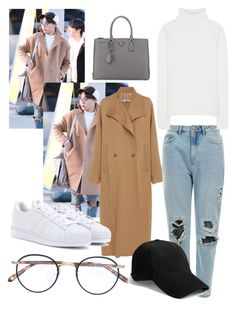Untitled #8 by nutellasprinkles-s on Polyvore featuring polyvore, Prada, Chloé, Rachel Comey, Garrett Leight, adidas, men's fashion, menswear and clothing