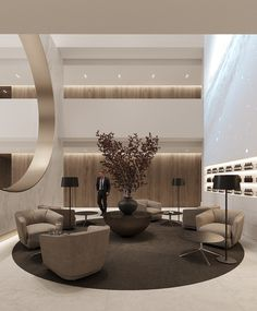 banking lobby The private clinic Hotel Lobby Design, Luxury Interior Design, Interior Design Inspiration, Interior Architecture, Lounge Design, Chair Design, Hotel Lounge, Lobby Interior, Commercial Interiors