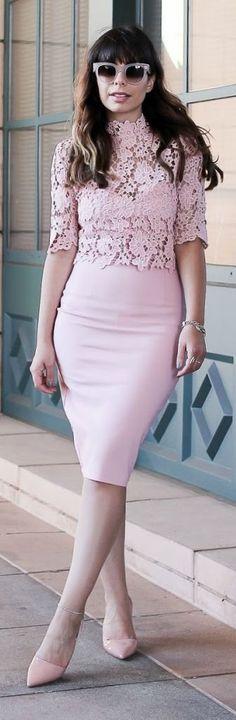 Stiletto Beats Pink Matching Set Outfit Idea