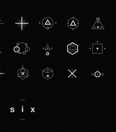 SIX // Symbols & Shapes by Jonathan Quintin, via Behance