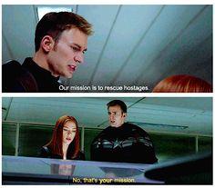 Captain America: The Winter Soldier   ahhhh I ship them so hard #Romanogers