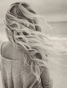 Beach Waves for Naturally Straight Hair: Curly hair with really tight with a tiny curling iron, before bed. When you wake up you'll have natural looking curls without having curling iron marks.