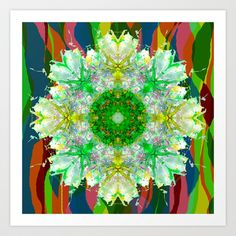 #Dancing #Fairies 1 Art Print by Peta Herbert - $17.00  http://instagram.com/petaherbert #colourful, #geometry, #fantasy, #flower, #floral, #brocade, #gold, #green, #lime  ❂ ❂ ❂  you can purchase my prints on oversized shirts at: http://printallover.me/collections/petaherbert  http://petaherbert.com.au http://displate.com/petaherbert http://redbubble.com/people/petaherbert http://instagram.com/petaherbert