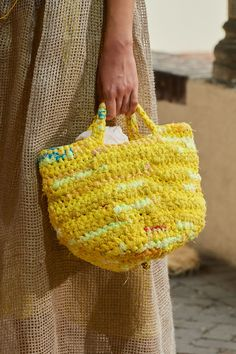 Best Tote Bags, Best Bags, Sewing Station, Yarn Bag, Stylish Handbags, Unique Crochet, Knitting Accessories, Knitted Bags, Crochet Designs