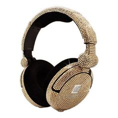 iWave Crystal Headphones with Golden Shadow Swarovski Elements®