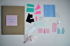 DIY Basic Shapes Collage Notebook