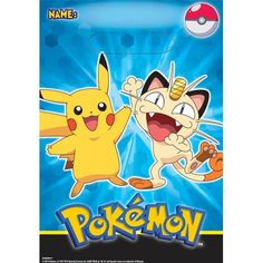 Pokemon Pikachu And Friends Party Loot Bags - Pack of 8