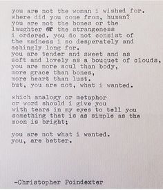Christopher Poindexter quote poem