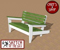 Sketch of the Day: Outdoor Loveseat