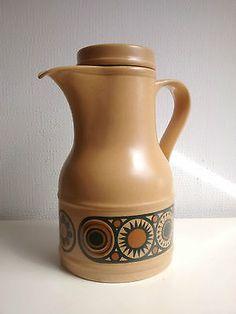 Vintage 1970s Kiln Craft Ironstone Bacchus Coffee Pot Retro Home
