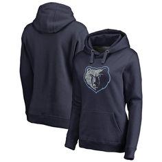 Memphis Grizzlies Fanatics Branded Women's Static Logo Pullover Hoodie - Navy