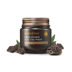 [INNISFREE] SUPER VOLCANIC PORE CLAY MASK 100ml  Innisfree's Super Volcanic Pore Clay Mask effectively removes sebum and other impurities through minerals found in Jeju's volcano.