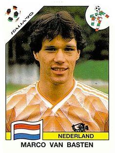 Marco Van Basten of Holland. 1990 World Cup Finals card. Uefa Football, Football Icon, Retro Football, Football Uniforms, National Football Teams, Arsenal Football, Adidas Football, World Football, Football Kits