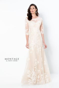 Mother of the Bride Dresses by Montage | Mon Cheri | Special Occasion Formal Wear for the Modern Mother Formal Dresses With Sleeves, Long Sleeve Evening Dresses, Elegant Dresses, Bride Groom Dress, Bride Gowns, Mother Of The Bride Dresses Long, Mothers Dresses, Mon Cheri Bridal, Trumpet Gown