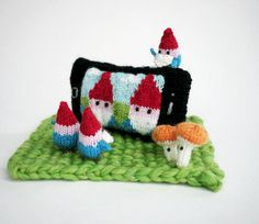 Knitted Gnome Team Selfie Sculpture