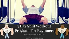 With only 3 days of working out during the week, the 3 day split workout program enables you to target major muscle groups at the same time, in less time, it gives your muscles time to recuperate and decreases the chance of injuries and soreness. #bodybuilding #weightlifting #fitness