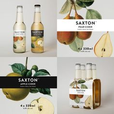 Saxton Cider packaging
